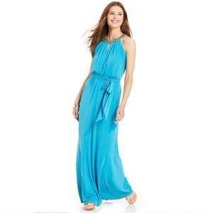 Vince camuto beaded-trim maxi dress